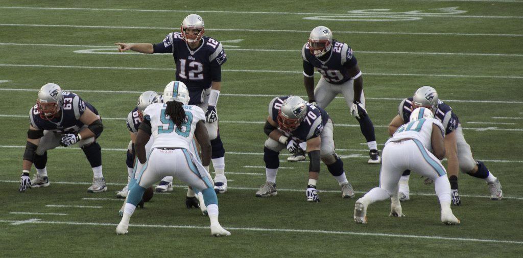 Tom Brady in einem Spiel gegen die Miami Dolphins.