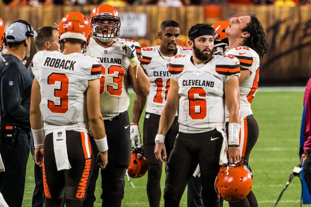 Baker Mayfield in einem Preseason Game 2018. Nach schwachem Start sind die Browns ratlos.