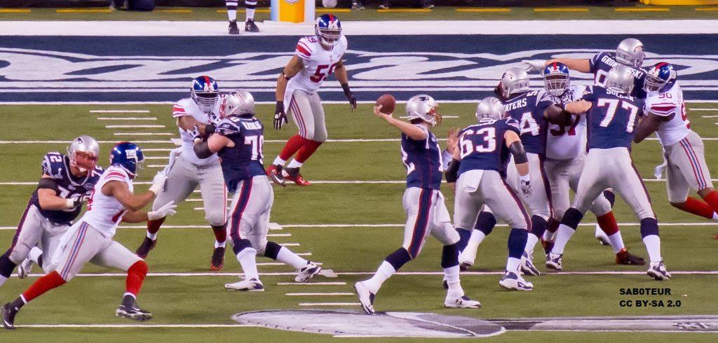 Brady im Super Bowl 46 gegen die NY Giants.