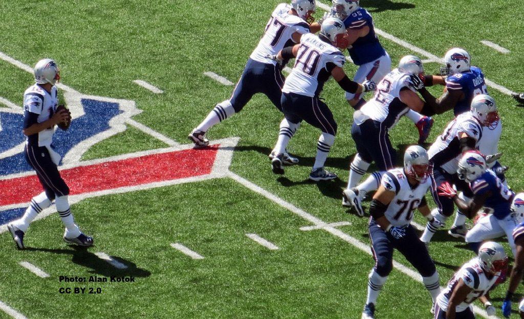 Brady 2013 gegen die Buffalo Bills. Gegen die Bills spielte Brady am liebsten.
