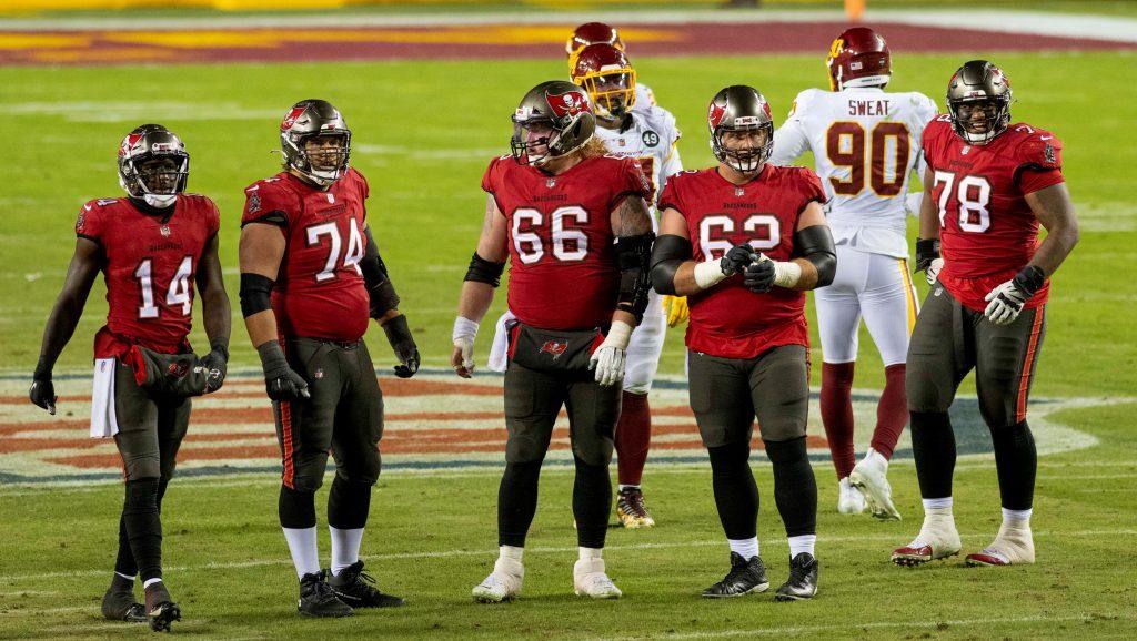 Die Offensive Line der Bucs: spielt sie stark, haben die Bucs eine Chance auf den Sieg im Super Bowl.